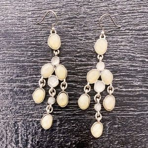 NWOT 🍀 Lucky Brand silver earrings, white stones